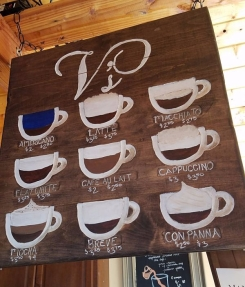 Coffee Bar at V's Coffee Shoppe Menu