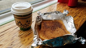 Banana Dang Coffee Latte and Toast